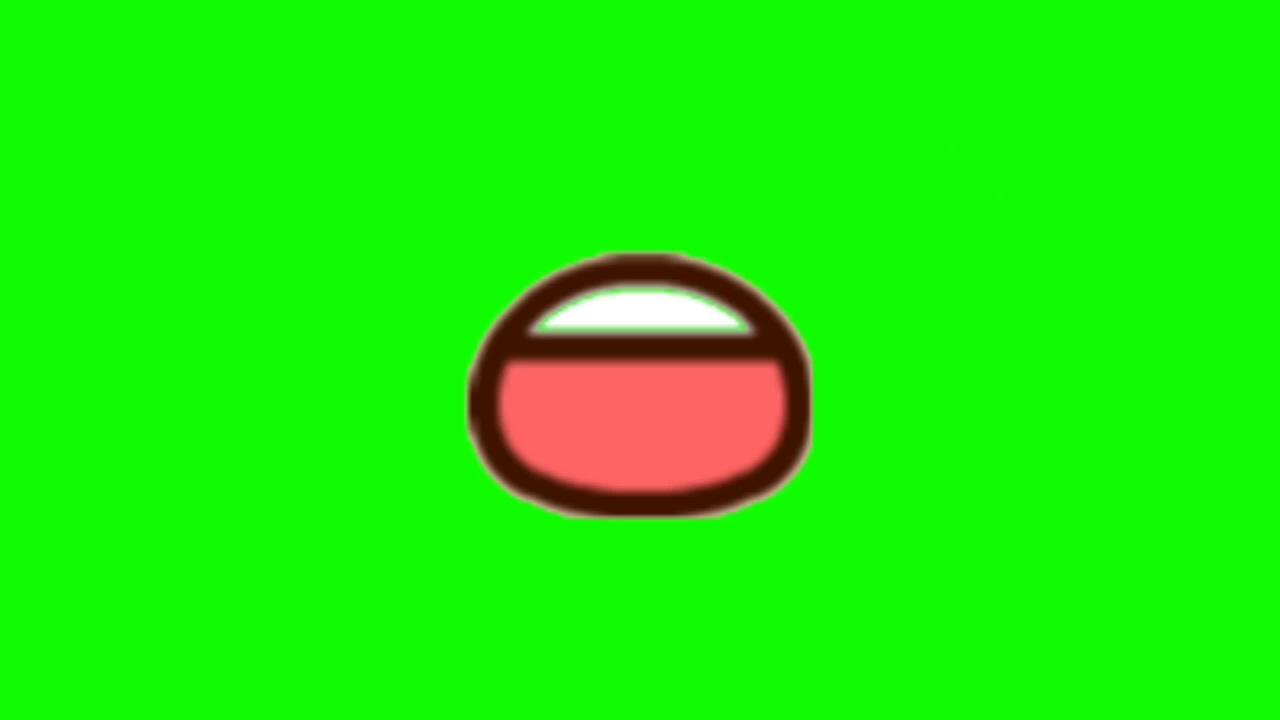 Green Scren Mulut Bergerak Untuk Animasi Youtube