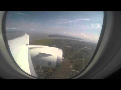 ANA NH919 787 NRT-PVG 10-20-2015  4K video