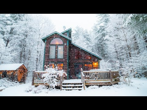 Fresh Snow at an Adirondack Cabin