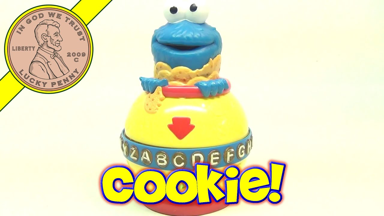Fisher-Price Cookie Monster Cookie Jar Alphabet Toy, 2002