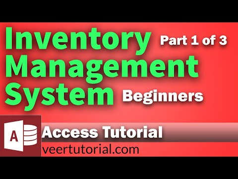Inventory Management System Database In Access For Beginners - Part-I