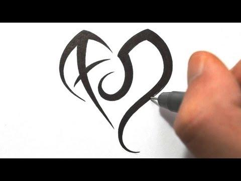 Designing Zodiac Symbols Sagittarius and Leo in a Heart Shape
