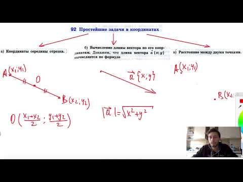 92. Простейшие задачи в координатах