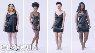 Women Sizes Small to 3X Try on the Same Slip Dress (Fenty) | Glamour