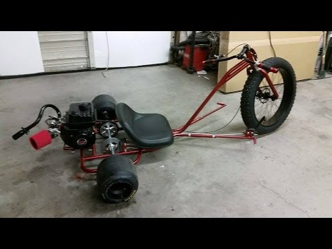 Motorized custom drift trike build part 4  YouTube