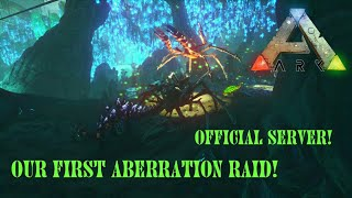 Ark: Official Server Abberation Raid! Karkinos Raid! - Ark Survival Evolved Aberration Wipe/Attack!