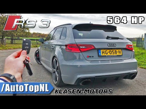 564HP AUDI RS3 KLASEN | 310km/h REVIEW POV On AUTOBAHN (NO SPEED LIMIT) By AutoTopNL