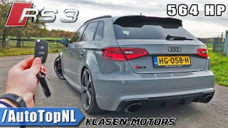 564HP AUDI RS3 KLASEN | 310km/h REVIEW POV on AUTOBAHN (NO SPEED LIMIT) by AutoTopNL