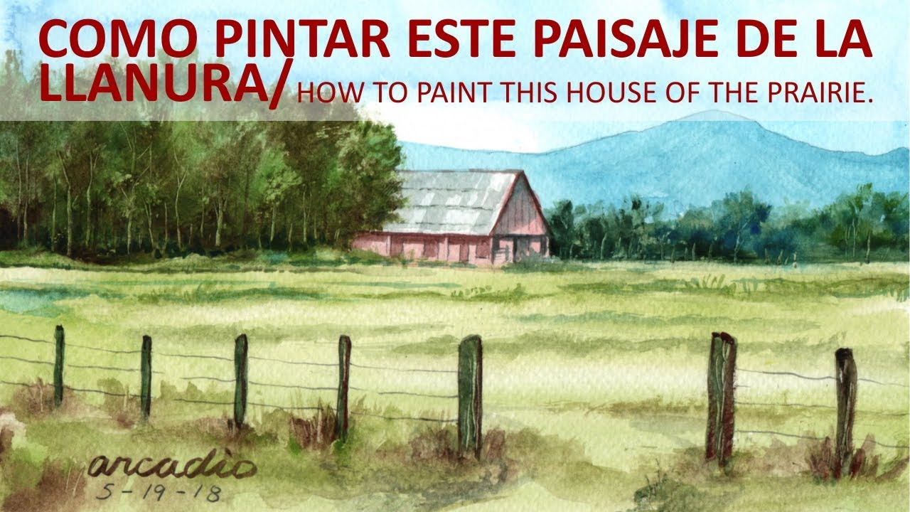 Como pintar esta casa de la llanura. /How to paint this house of the  prairie. - YouTube
