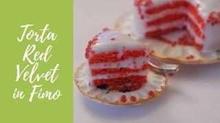 Tutorial: Torta Red Velvet In Fimo (red Velvet Cake In Polymer Clay) [eng-sub]