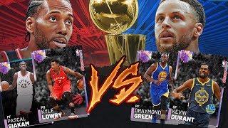 2019 NBA FINALS CHALLENGE!! NBA 2K19 MYTEAM WARRIORS RAPTORS SUPER TEAM!!
