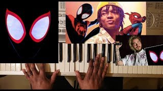 POST MALONE ft SWAE LEE - SUNFLOWER (PIANO TUTORIAL) D MAJOR  (SPIDER-MAN INTO THE SPIDER VERSE)