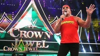 Video Hulk Hogan makes a surprise return to kick off WWE Crown Jewel: WWE Crown Jewel 2018 (WWE Network) download MP3, 3GP, MP4, WEBM, AVI, FLV November 2018