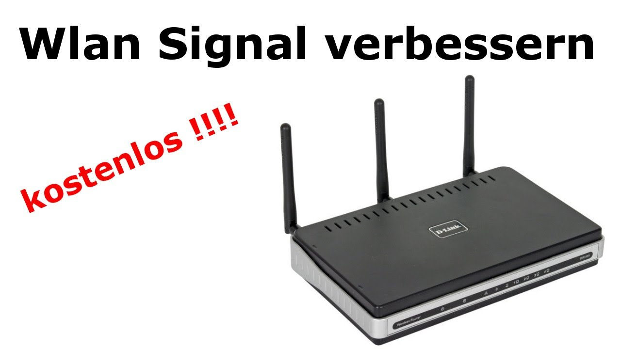 kostenlos wlan signal verst rken verbessern wifi increase for free youtube