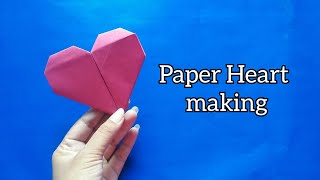 Heart making/Paper crafts/Crafts/How to make paper heart