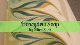 Honeydew Soap | Cold Process Soap by Kilted Suds | Hanger Swirl