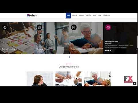Foshan - Finance, Consulting Business WordPress Theme        Peyton E