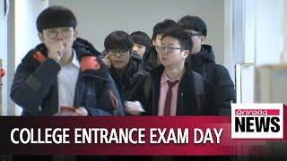 Nearly 600,000 students in South Korea take 2018 college entrance exam