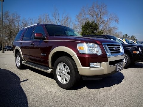 2007 ford explorer eddie bauer v6 youtube. Black Bedroom Furniture Sets. Home Design Ideas