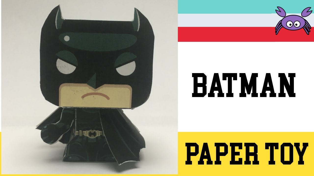 how to make a batman paper toy papercraft free template by gus