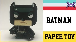 How to Make a Batman Paper Toy ( Papercraft ) (free template) by Gus Santome