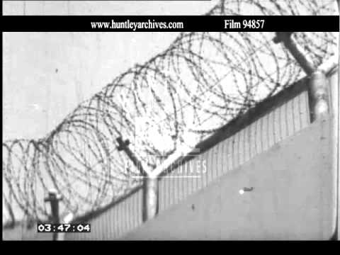 Roll of Barbed Wire on a wall. Archive film 94857 - YouTube