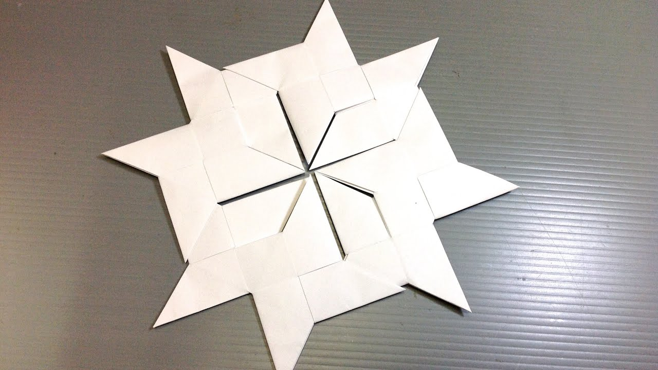 Easy Origami Ninja Star Modular Snowflake - YouTube - photo#35