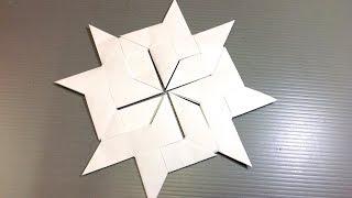 Easy Origami Ninja Star Modular Snowflake