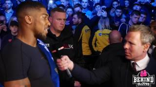 ANTHONY JOSHUA MEETS THE FANS & DISCUSSES MOLINA FIGHT AND FUTURE FIGHT WITH KLITSCHKO