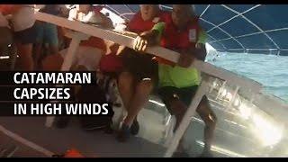 Weather Gone Viral: Catamaran Capsizes in High Wind