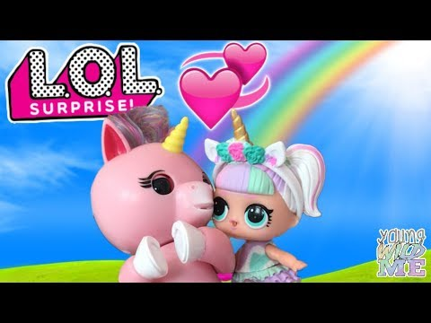 Unicorn LOL Dolls + Fingerlings LOL Surprise Series 3 Wave 2 Blind Bags With Doll Twins YouTube Kids