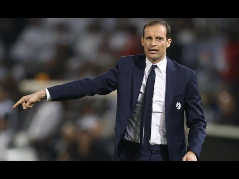 Juventus 4-2-3-1 defensive shape tactical analysis with Allegri