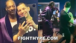 "EDGAR BERLANGA & SNOOP DOGG SAGGIN & HITTIN HARD; ""PRACTICING"" WALK OUT DANCE FOR DECEMBER FIGHT"