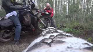 KLR 650 & DR 650 2.1 - Twists, a Crash, Dirt, River Crossings, Hill Climbs, & Single Tracks