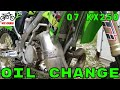 Changing the oil in a Kawasaki KX250 ! -- 2007
