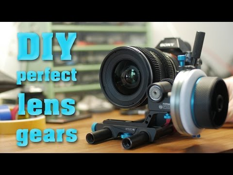 DIY perfect, seamless Lens Gears for Follow Focus
