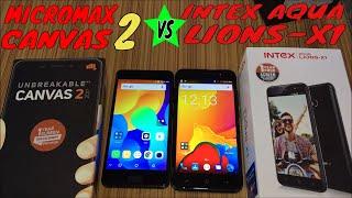Micromax Canvas2 Vs Intex aqua lions-X1 Unboxing and reviews #Technicalmasti