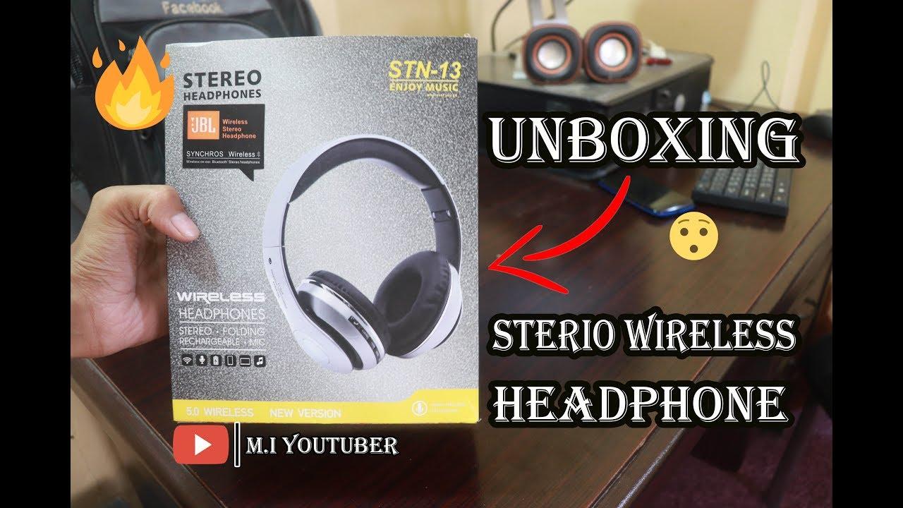 My New Wireless Headphone Jbl Stn 13 Unboxing Youtube
