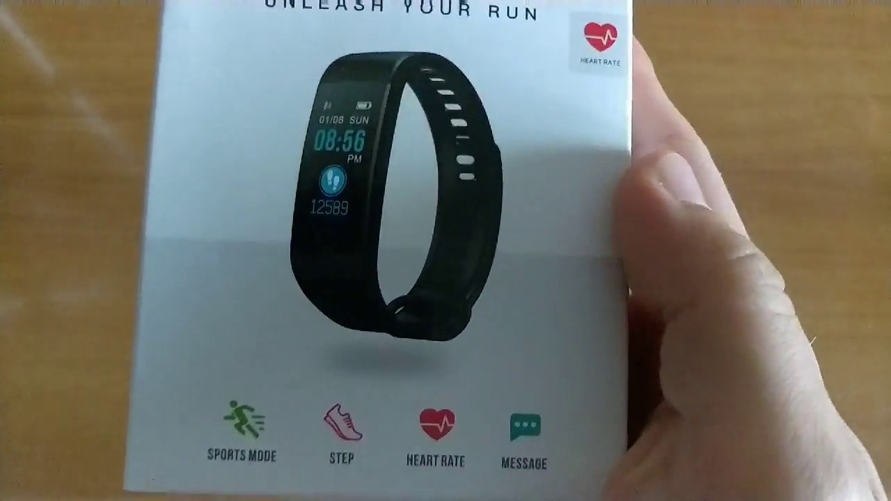 Y5 Smart band Unboxing Smart Bracelet Color Screen Heart Rate Monitor Blood  Fitness Tracker