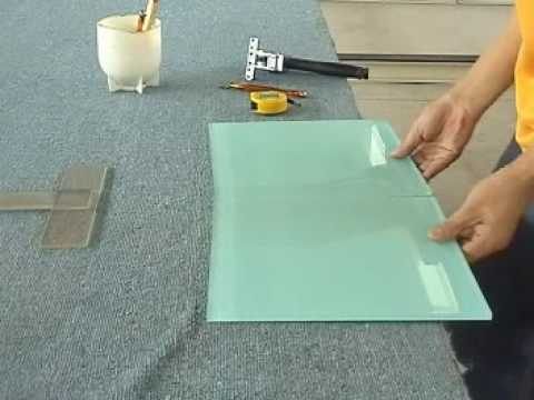 How To Cut Large Format Glass Tile Youtube