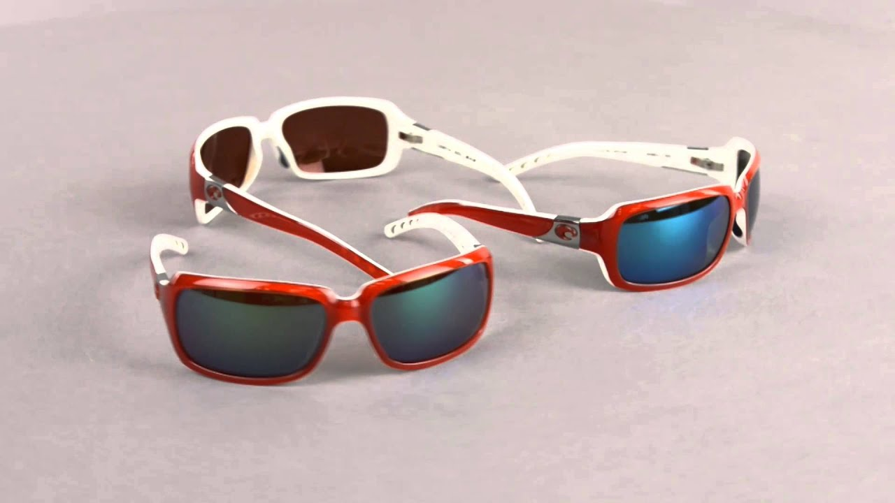 43130697391 Costa Del Mar Isabela Sunglasses - Polarized 580G lightWAVE® Glass Mirror  Lenses - YouTube