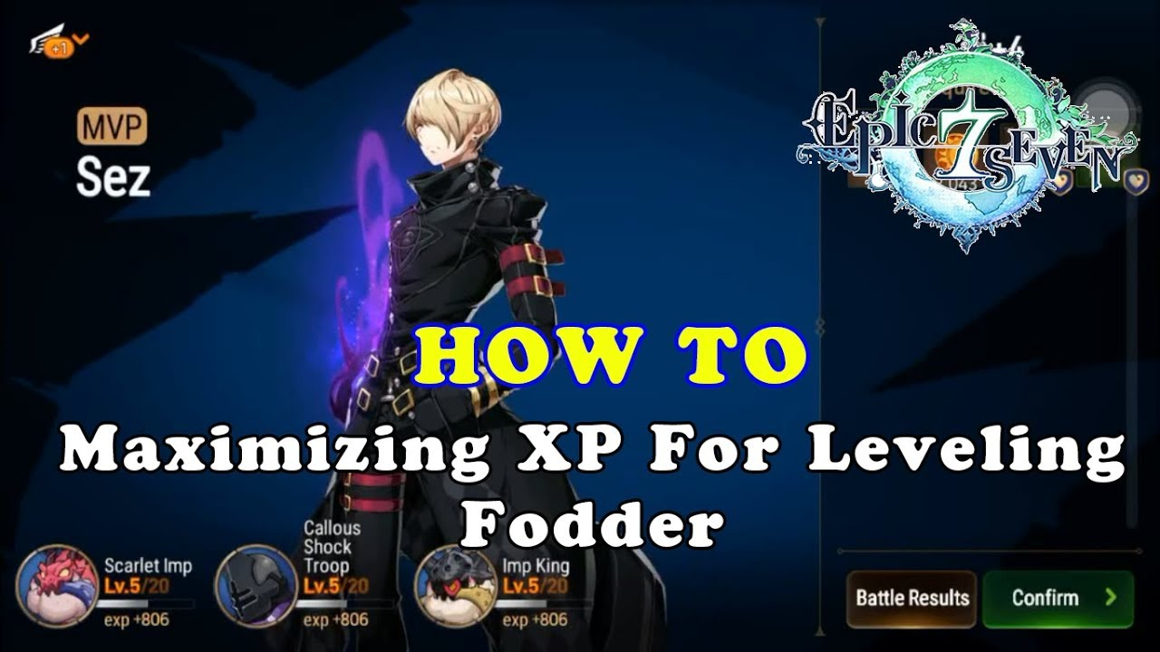 Epic Seven - Maximizing XP For Leveling Fodder!