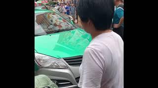 중국 광저우 짠시루 도로한복판 중국인싸움