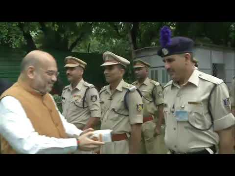 Shri Amit Shah hoists National Flag on the occasion of 73rd Independence Day