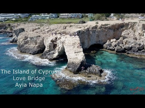 Ayia Napa Cyprus Love Bridge Stunning Aerial Video The Island of Cyprus