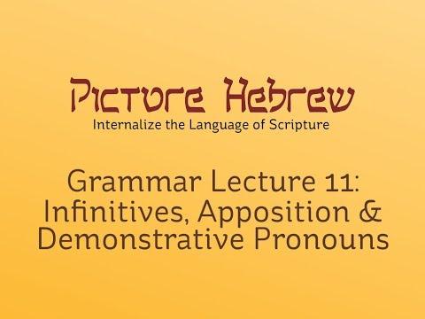 Biblical Hebrew Grammar 11: Infinitives, Apposition & Demonstratives