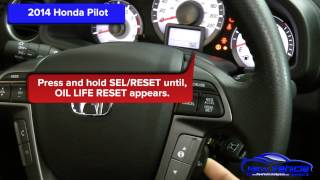 2014 Honda Pilot  Oil Light Reset / Service Life Reset(Reset the Oil Light and the Service Light Reset on a 2014 Honda Pilot. The Video also includes written Oil Light reset and Service Light Reset steps as well., 2014-11-07T19:31:45.000Z)