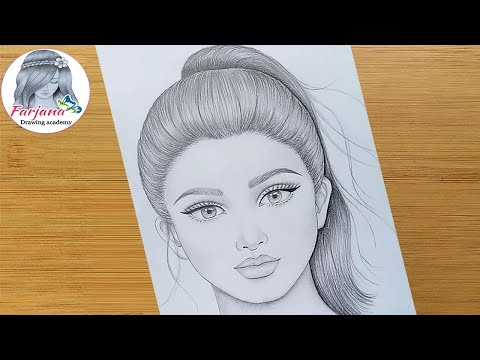 how-to-draw-a-girl-with-ponytail-hairstyle-||-pencil-sketch-||-face-drawing-||-bir-kız-nasıl-çizilir