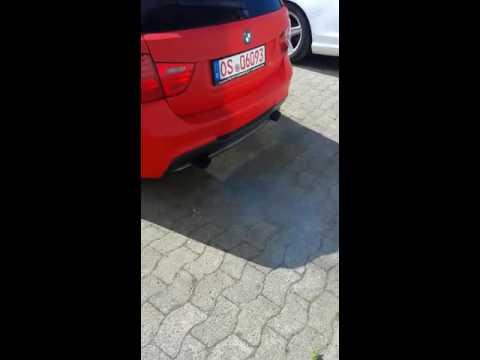 BMW 335d Touring Sound mit Downpipe :)