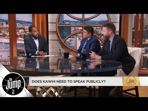 Does Kawhi Leonard need to speak publicly? | The Jump | ESPN